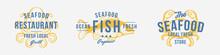 Seafood Vintage Logo Set. Seaf...