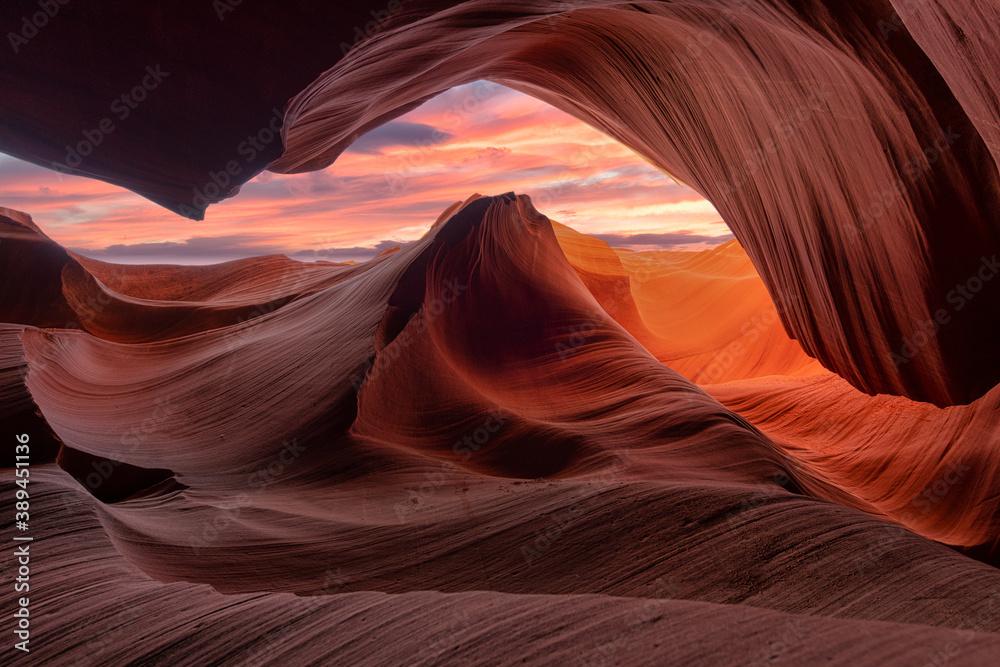 Fototapeta antelope canyon in arizona - background travel concept
