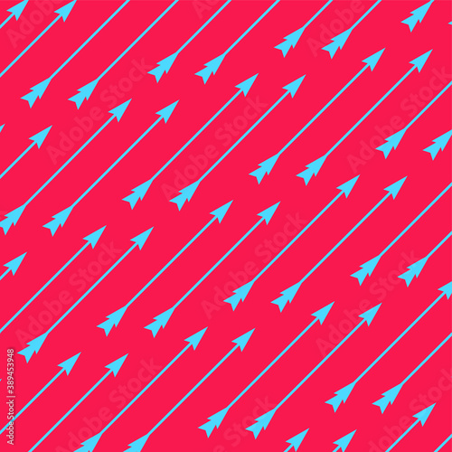Fotografía Modern and funky vector pattern with shooting arrows graphic