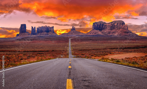 Tablou Canvas Road to monument valley in Utah