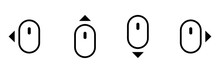Computer Mouse Swipe Icon Set....