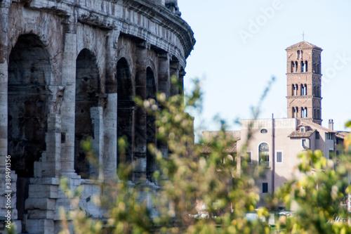 Coliseo, Colosseo o Anfiteatro Flavio en la ciudad de Roma, pais de Italia Billede på lærred