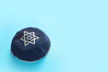 Jewish Cap On Color Background