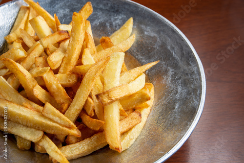 Vászonkép papas fritas al plato