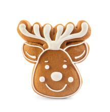 Deer Shaped Christmas Cookie I...