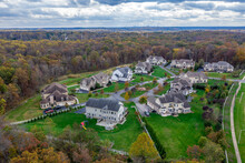 Aerial View Of Luxury Real Est...