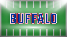 Buffalo Vector, Sports Style Text.