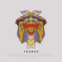 Taurus Artwork With Abstract C...