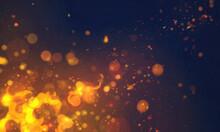 煌めく火の粉の背景