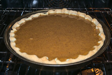 Raw Pumpkin Pie With Ground Ci...