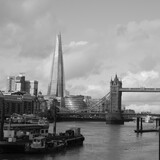 Fototapeta Kwiaty - City Of London Tower Bridge Black and White