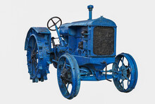 Vintage Agricultural Tractor In Blue