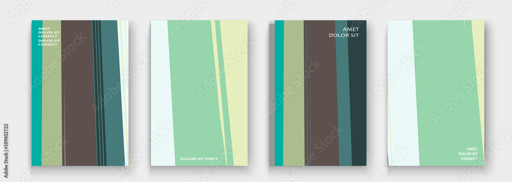 Fototapeta Modern cover collection design vector. Abstract retro style pastel turquoise lines texture. Striped trend background. Futuristic geometric stripe pattern. Design presentation, template, business cards