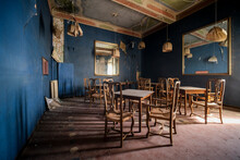 Dining Room With Chairs And Ta...