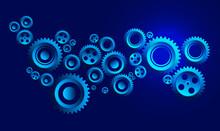 Technology Cogwheels And Gears...