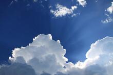 Beautiful Blue Sky With Sunlig...