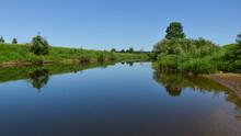 Summer Morning At Headwaters Of Dnieper River In Smolensk Region, Russia