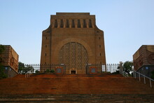 View Of Voortrekker Monument  On Monument Hill  Under Sunset  In Pretoria, South Africa.