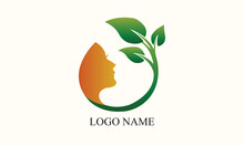 Abstract Green Logo Design, Plants And Flowers Logo Design.