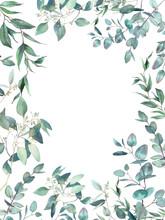 Watercolor Eucalyptus Card Des...