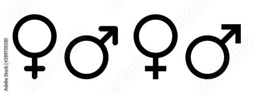 Papel de parede Male female icon vector