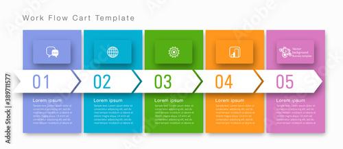 Obraz Timeline. Business chart template. Vector graphics. - fototapety do salonu