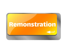 Remonstration . Close Up Of Keyboard, Enter Computer Key.