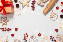 Christmas Frame With Decoratio...