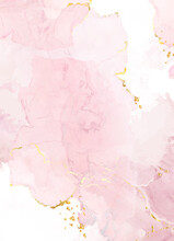 Blush Pink Watercolor Fluid Painting Vector Design Card.
