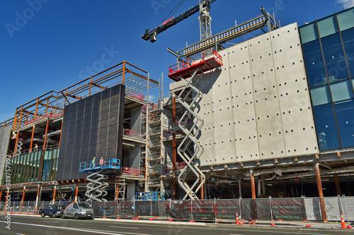 Obraz na płótnie AUCKLAND, NEW ZEALAND - Apr 04, 2019: Construction site of Westfield Newmarket s