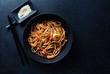 Asian Noodles With Shrimps And...