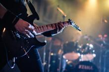 Closeup Shot Of A Guitarist Pl...