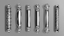 Silver Door Handles In Baroque...