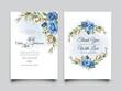 elegant wedding invitation template with beautiful floral design