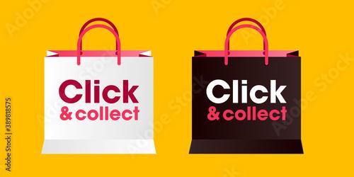 Sac click and collect - achat en ligne pour retirer en boutique - solution pour Canvas Print