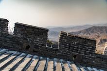February 2020. Great Wall Of China. Mutianyu Section.