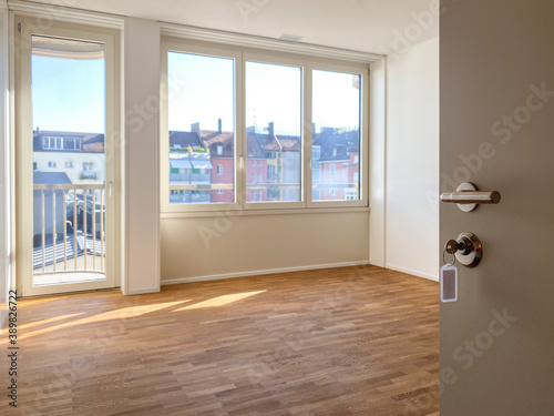 Fotografía Rental apartment cleaned and ready for a new tenant to move in - Modern, bright