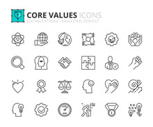 Simple Set Of Outline Icons Ab...