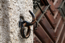 Old Rusty Hook With A Ring At ...