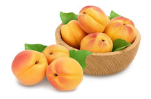 Apricot Fruit In Wooden Bowl I...