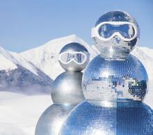 Two Snowmen In Ski Masks