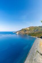Black Beach Of Nonza In Corsica