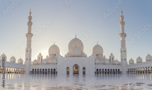 Grand mosque united emirates Fotobehang