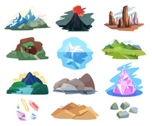 Mountain Landscape Vector Illu...