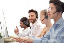 Happy Male Call Centre Operato...