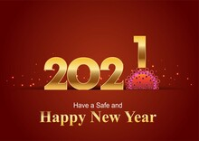 Happy New Year 2021 Golden Let...