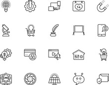 Technology Vector Icon Set Such As: Dashboard, Kinetics, Folder, Physics, Focus, Genetic, Programming, Copywriting, Globe, Feather, Sunlight, Help, Advertising, Code, Event, Set, Clean, Thermostat
