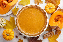 Traditional Pumpkin Pie For Th...