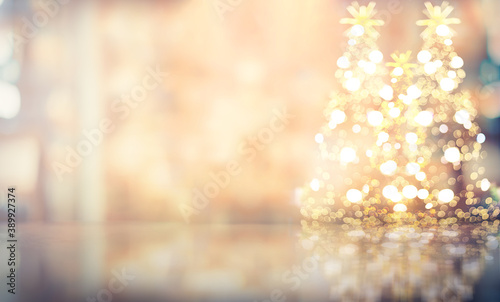 Leinwand Poster Christmas warming soft color for background