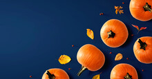 Autumn Pumpkins With Colorful ...